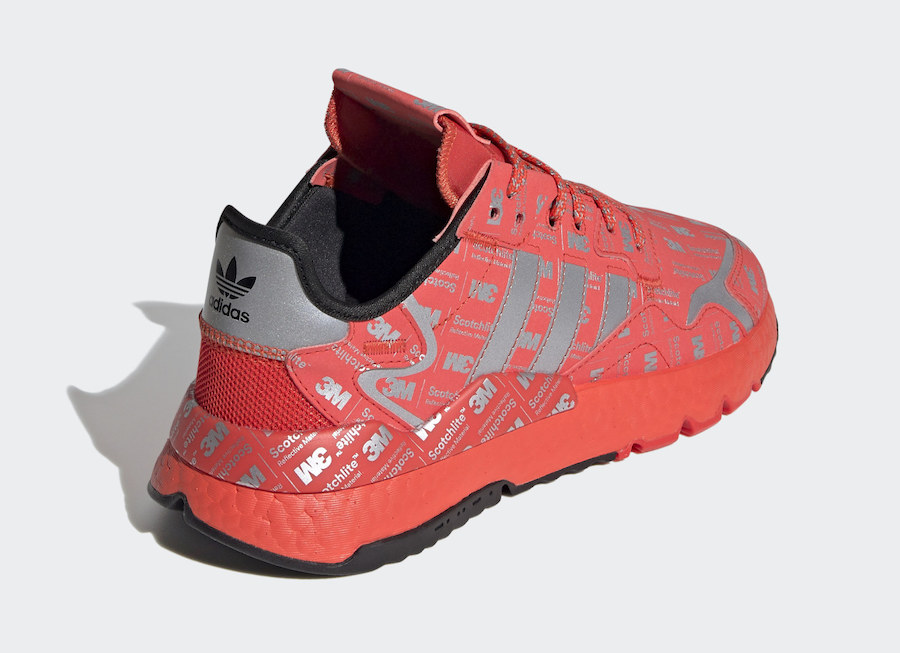 adidas Nite Jogger Reflective Red FV3621 Release Date Info