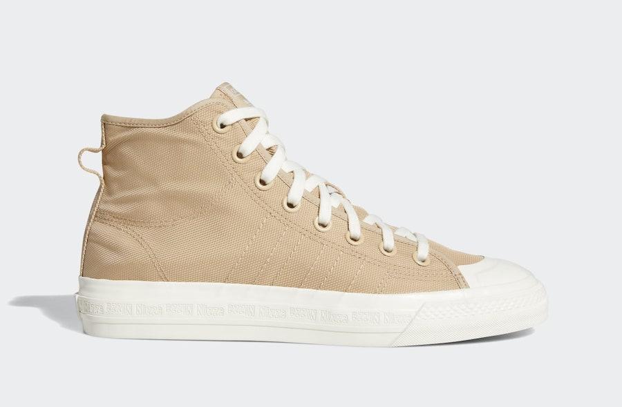 adidas Nizza Hi RF Pale Nude EF5759 Release Date - Sneaker