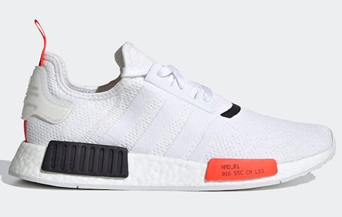 adidas NMD R1 White Solar Red Release Date