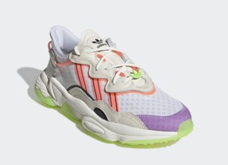 adidas Ozweego Off White Signal Green Glory Purple FX3814 Release Date Info