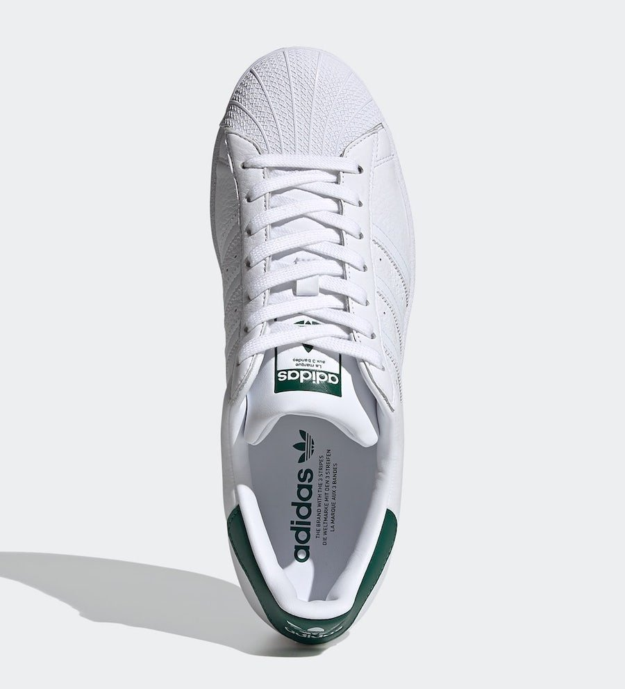 adidas Superstar White Collegiate Green FX4279 Release Date Info