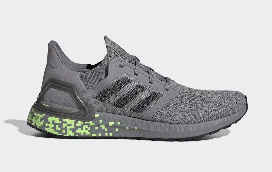 adidas Ultra Boost 2020 Grey Signal Green EG0705 Release Date Info