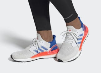adidas Ultra Boost 2020 White Glory Blue Solar Red EG0708 Release Date Info