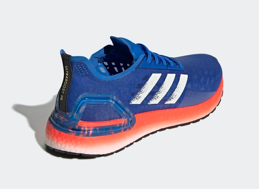 adidas Ultra Boost PB Glory Blue Solar Red EF0893 Release Date Info