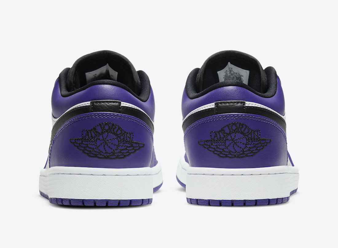 Air Jordan 1 Low Court Purple 553558-500 Release Info Date