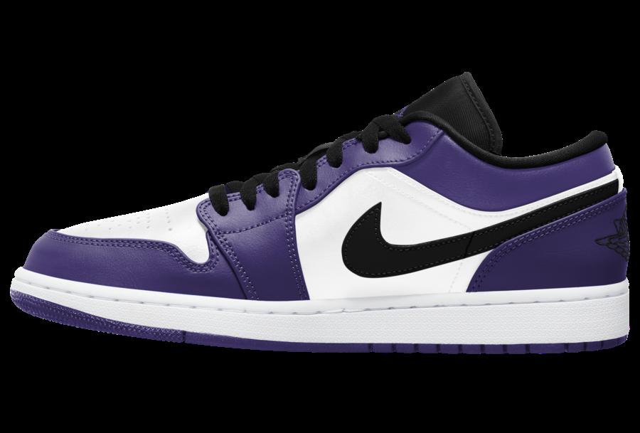 Air Jordan 1 Low Court Purple White 553558-500 Release Date Info