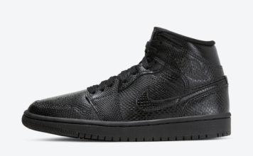 Air Jordan 1 Mid Black Snakeskin BQ6472-010 Release Date Info