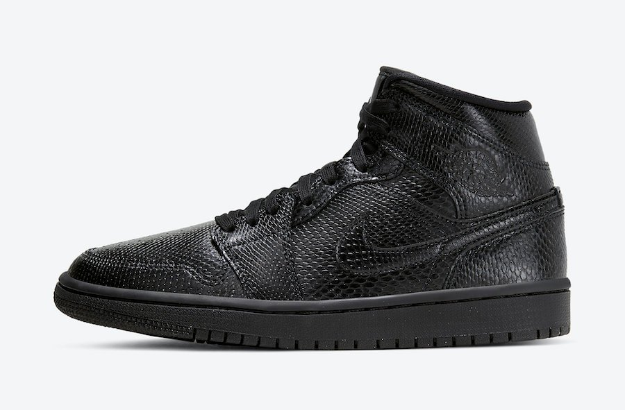 Air Jordan 1 Mid 'Black Snakeskin' Available Now
