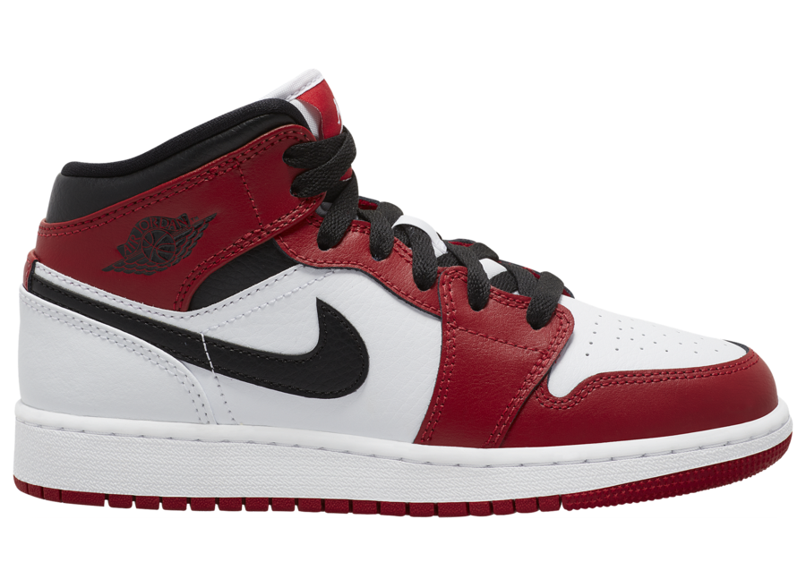 Air Jordan 1 Mid GS White Gym Red Black 554725-173 Release Date Info
