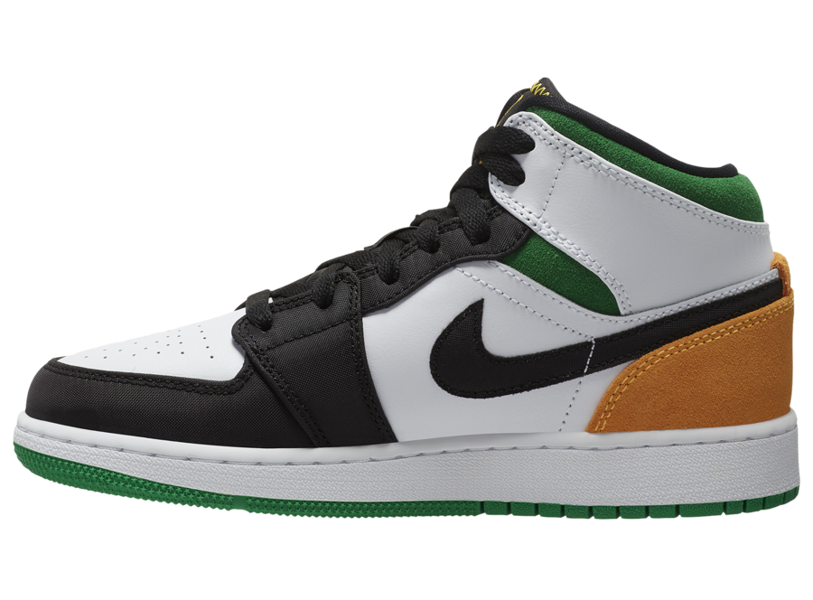 Air Jordan 1 Mid SE Lucky Green Laser Orange BQ6931-101 Release Date Info