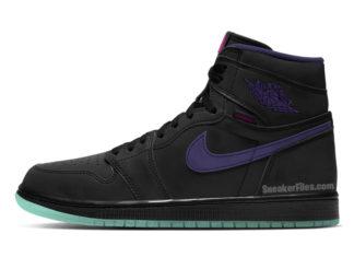 Air Jordan 1 Zoom Black Court Purple Hot Punch Green Glow CT0978-005 Release Date Info