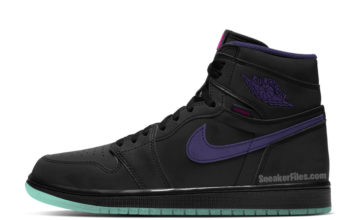 Air Jordan 1 Zoom Black Court Purple Hot Punch Green Glow CT0978-005 Release Date Info