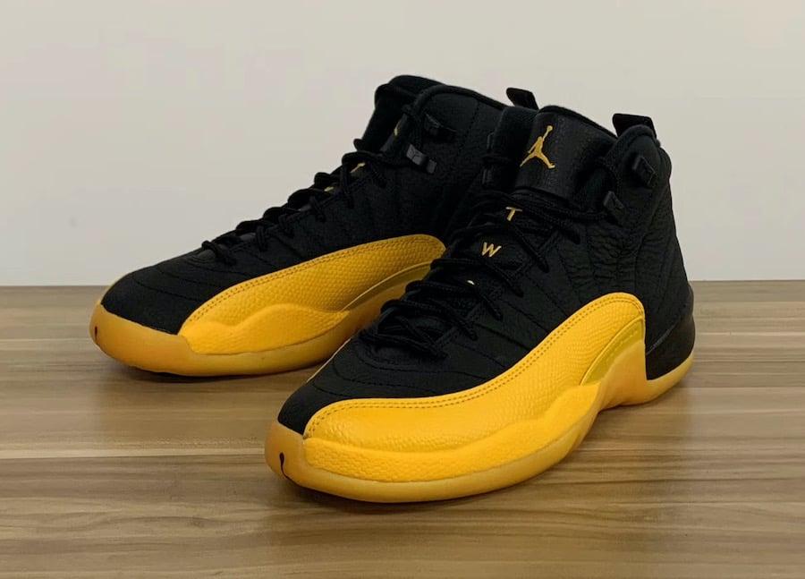 Air Jordan 12 Black University Gold 130690 070 Release Date Info