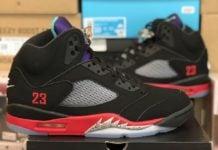 Air Jordan 5 Top 3 Black New Emerald Fire Red CZ1786-001