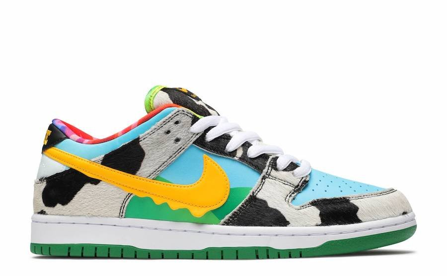 Ben and Jerrys Nike SB Dunk Low CU3244-100 Release Info