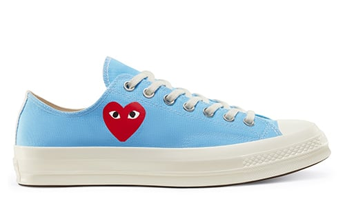 CDG PLAY Converse Chuck 70 Blue Low Release Date