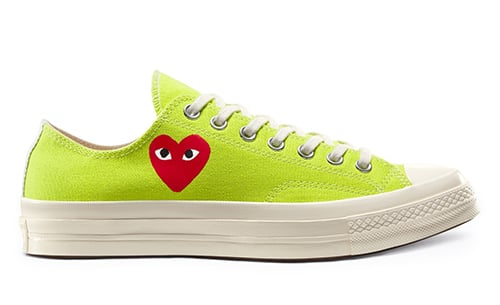 CDG PLAY Converse Chuck 70 Green Low Release Date