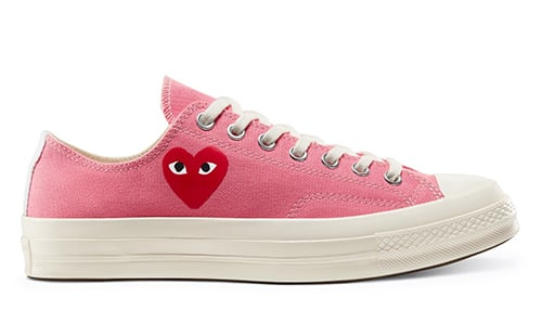 CDG PLAY Converse Chuck 70 Pink Low Release Date