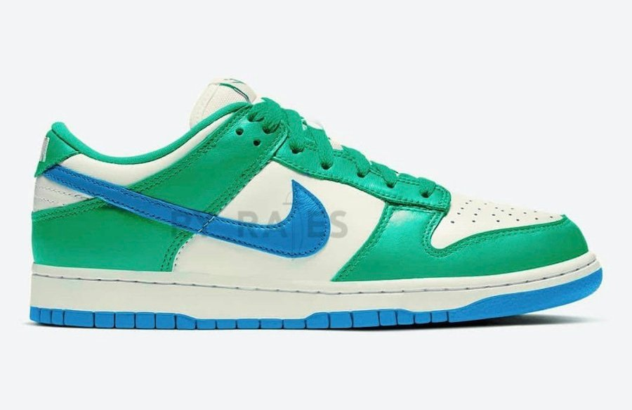 Kasina Nike Dunk Low Sail White Neptune Green Industrial Blue Release Date Info