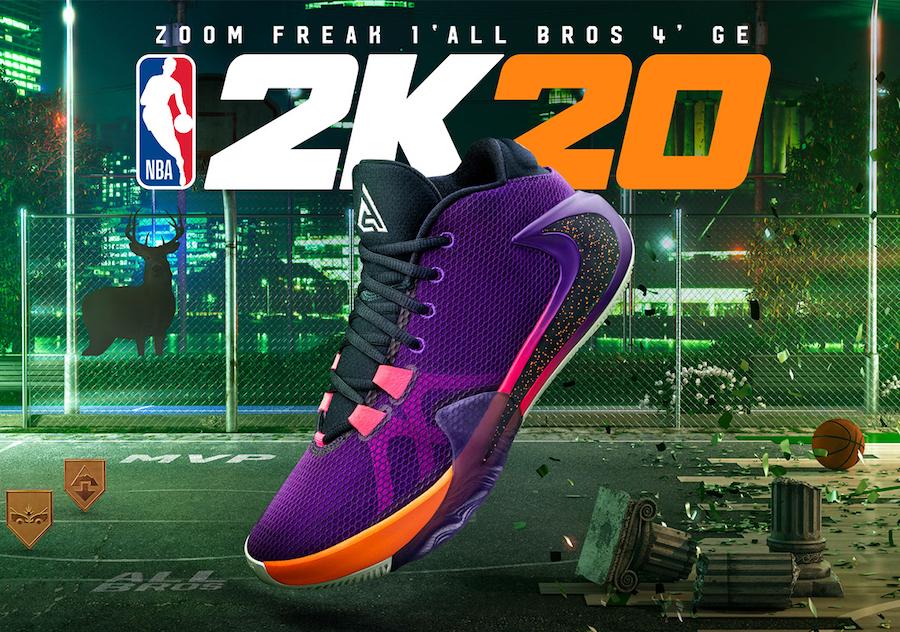 NBA 2K20 Nike Zoom Freak 1 All Bros 4 Release Date Info