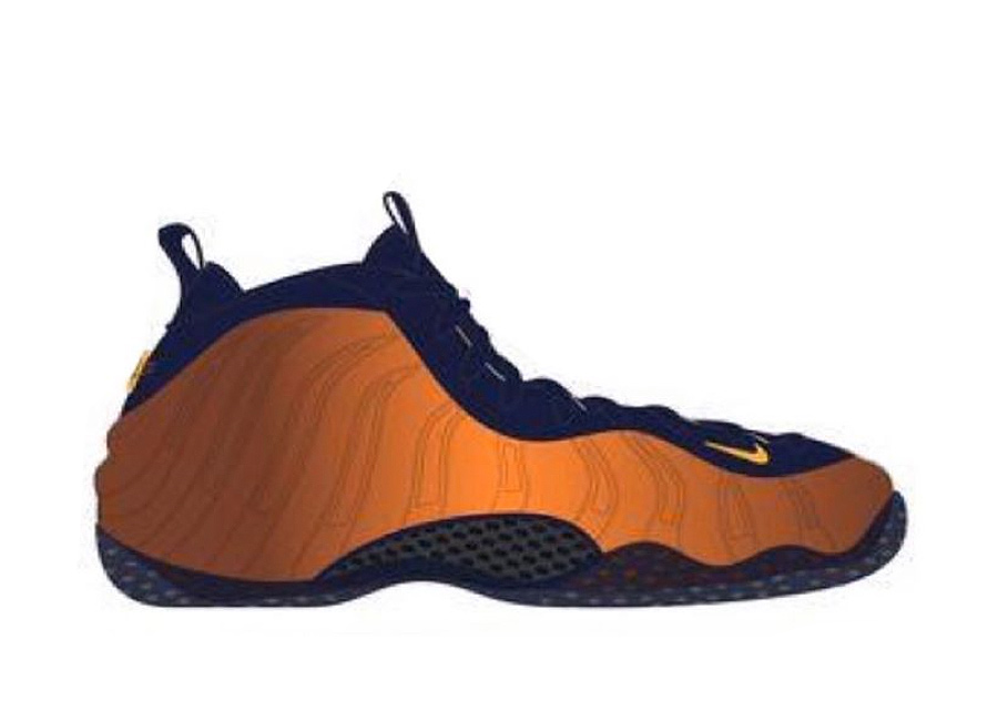 Nike Air Foamposite One Rugged Orange Blue Void University Gold CJ0303-400