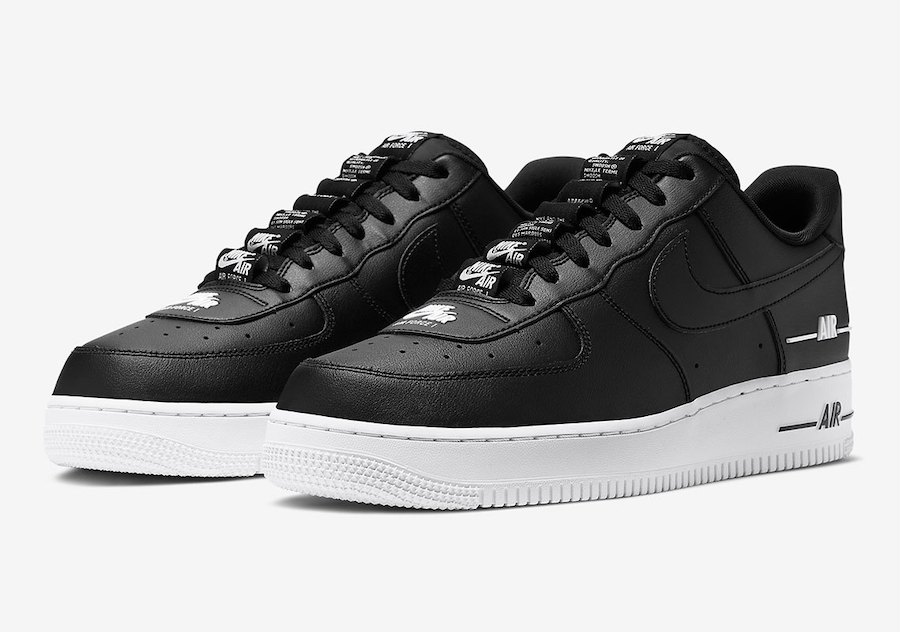 Nike Air Force 1 Double Air Black CJ1379-001 Release Date Info