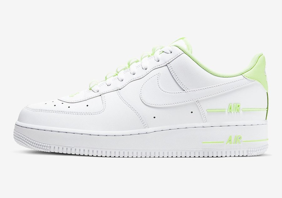 Nike Air Force 1 Double Air White Volt CJ1379-101 Release Date Info