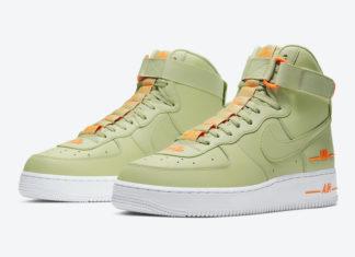 Nike Air Force 1 High Olive Aura Total Orange CJ1385-300 Release Date Info