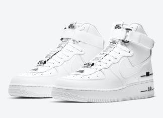 Nike Air Force 1 High White Black CJ1385-100 Release Date Info