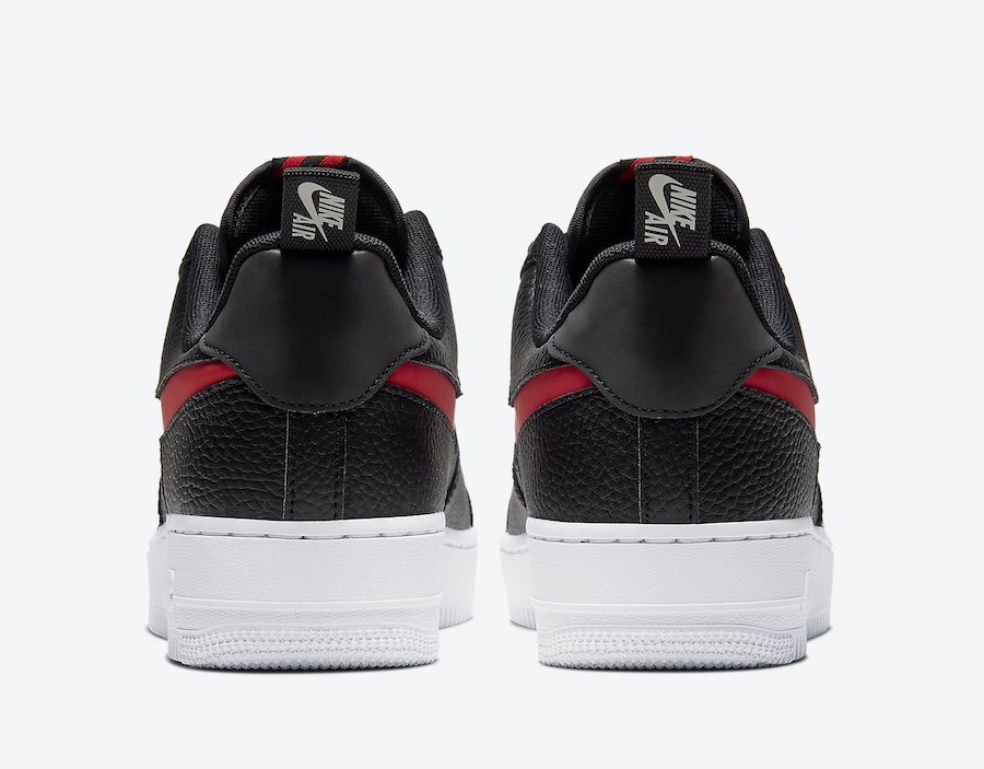 Nike Air Force 1 Low LV8 Utility Black University Red CW7579-001 Release Date Info