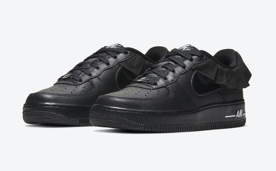 Nike Air Force 1 LV8 Ruffle Black CI2302-001 Release Date Info