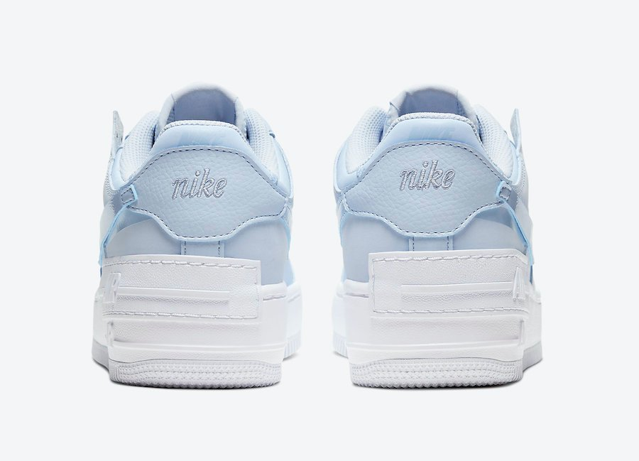 Nike Air Force 1 Shadow Hydrogen Blue CV3020-400 Release Date Info