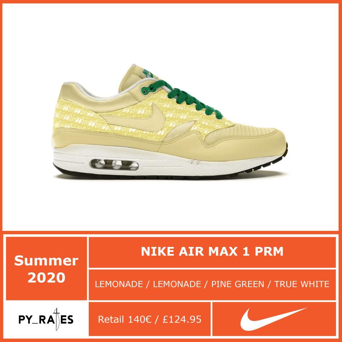Nike Air Max 1 Lemonade 2020 Release Date Info
