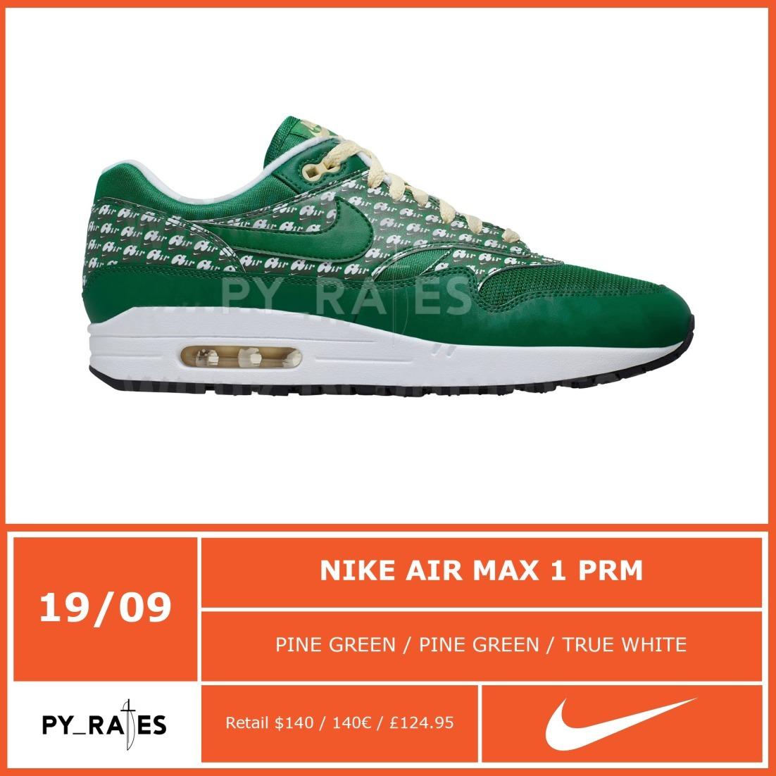 Nike Air Max 1 PRM Powerwall Green Lemonade Release Info