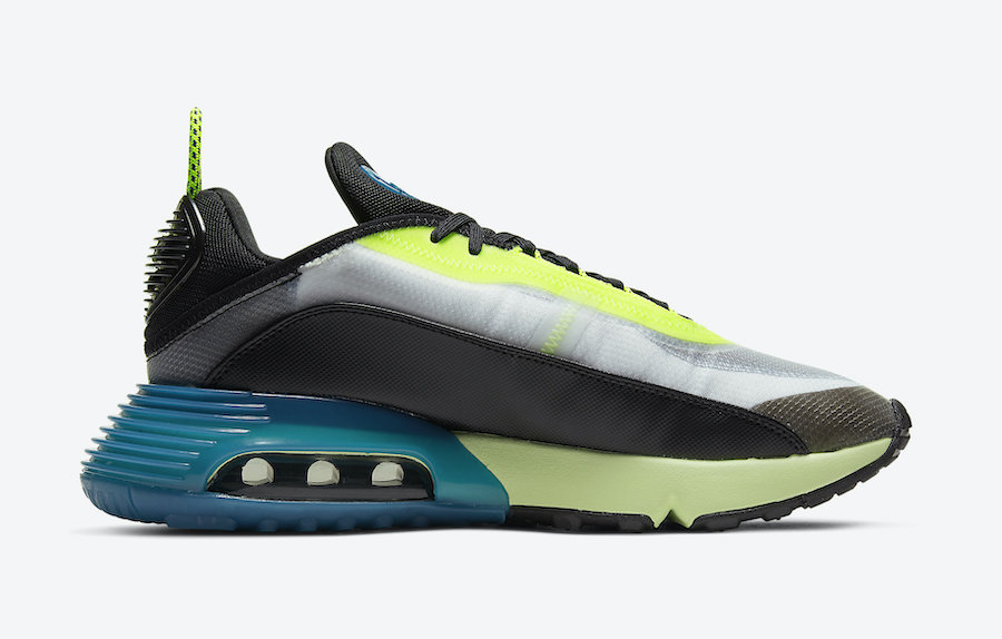 Nike Air Max 2090 Black Volt Blue Force BV9977-101 Release Date Info