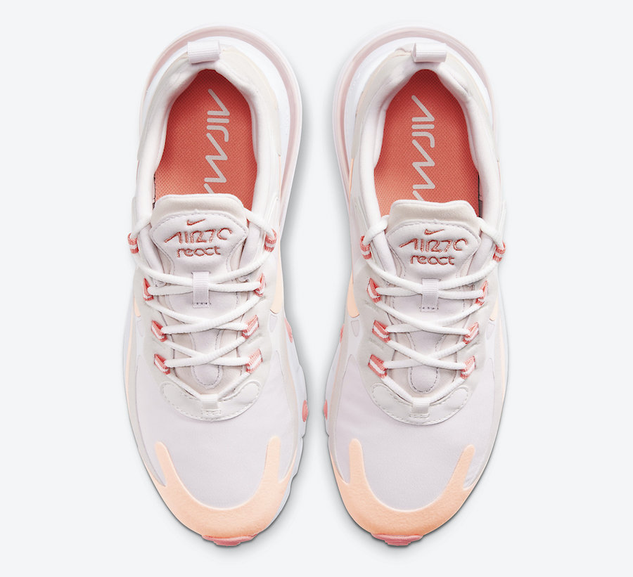 Nike Air Max 270 React Crimson Tint CJ0619-103 Release Date Info