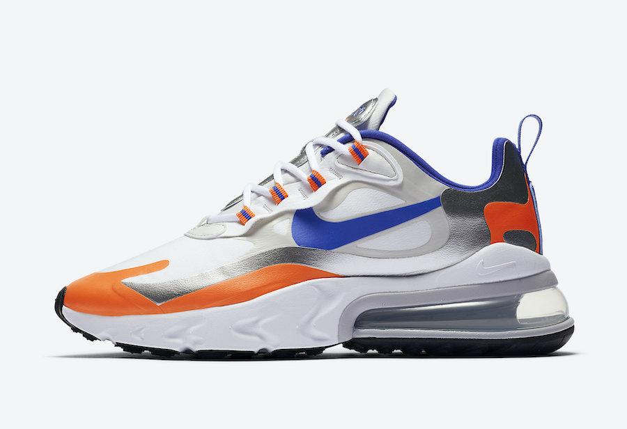 Nike Air Max 270 React Knicks CW3094-100 Release Date Info