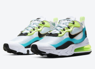 Nike Air Max 270 React Oracle Aqua CT1265-300 Release Date Info