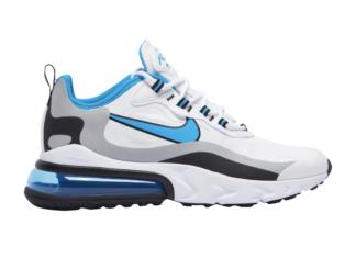Nike Air Max 270 React White Black Grey Blue CT1280-101