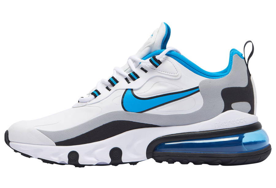 Nike Air Max 270 React White Black Grey Blue CT1280-101 Release Date Info