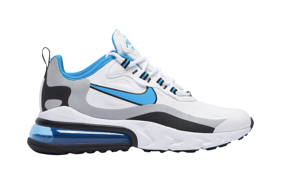 Nike Air Max 270 React White Black Grey Blue CT1280-101