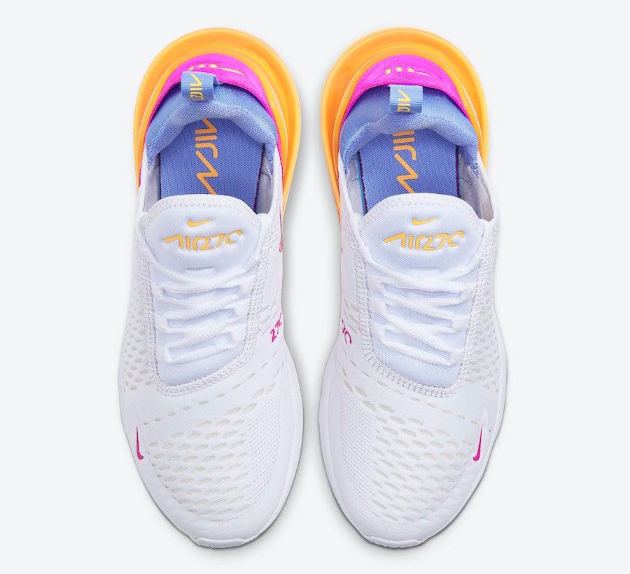Nike Air Max 270 White Orange Blue Magenta CZ9275-100 Release Date Info