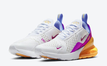 Nike Air Max 270 White Orange Blue Magenta CZ9275-100 Release Date Info