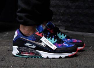 Nike Air Max 90 Galaxy CW6018-001 On Feet