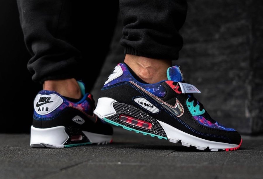 Nike Air Max 90 Galaxy CW6018-001 On Feet
