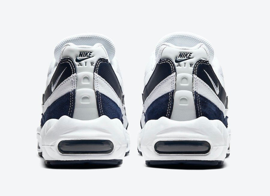 Nike Air Max 95 Essential White Midnight Navy CI3705-400 Release Date Info