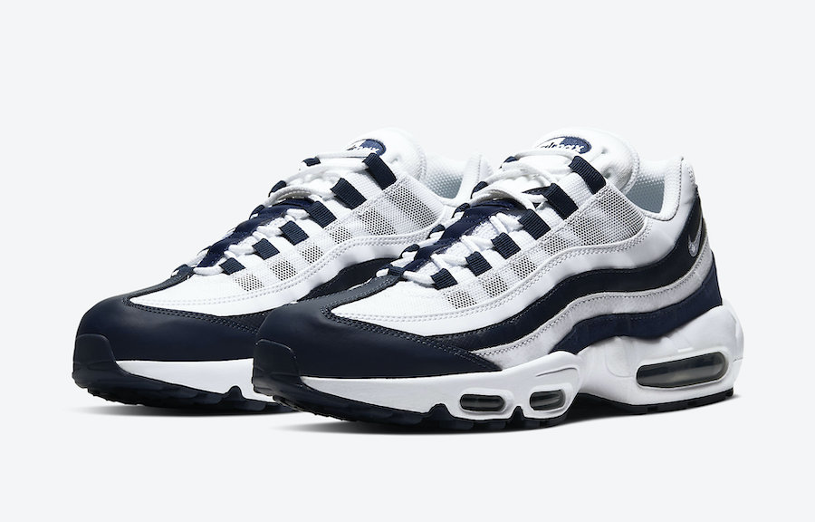 Nike Air Max 95 Essential White Midnight Navy Ci3705 400 Release
