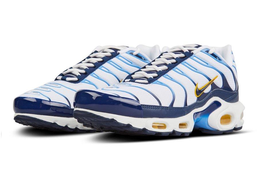 Nike Air Max Plus White Blue Gold