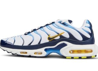 Nike Air Max Plus White Blue Gold CT1094-100 Release Date Info