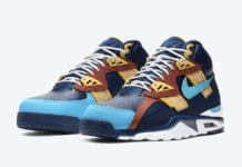 Nike Air Trainer SC High Navy Blue Brown Orange CW6023-400 Release Date Info
